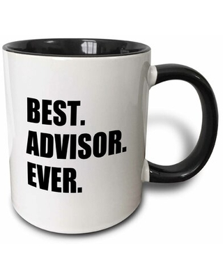 Licon Best Advisor Ever Bold Text Fun Work and Job Pride Gifts Coffee Mug Symple Stuff