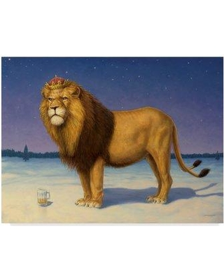 """Trademark Art 'The Kings Beer' Print on Wrapped Canvas ALI36300-CGG Size: 35"""" H x 47"""" W x 2"""" D"""