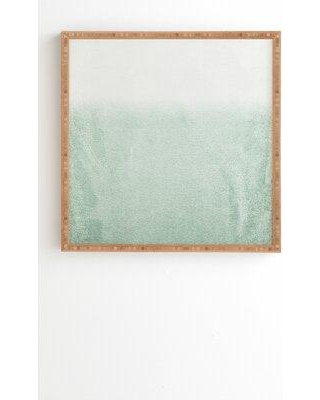 """Society6 'Fading Green Eucalyptus' Graphic Art Print 67954- Format: Bamboo Framed Size: 12"""" H x 12"""" W x 2"""" D Matte Color: No Matte"""