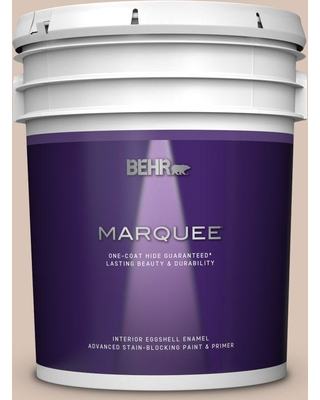 BEHR MARQUEE 5 gal. #ECC-55-1 Mission Stone Eggshell Enamel Interior Paint and Primer in One