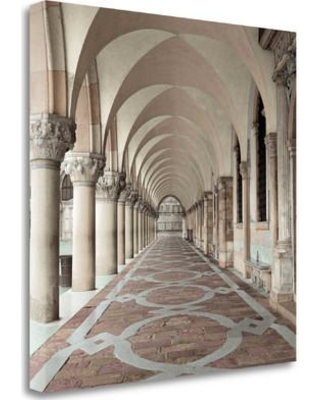 """Tangletown Fine Art 'Dodges Portico - 1' Photographic Print on Wrapped Canvas ICABITC5010-2020c Size: 30"""" H x 30"""" W"""