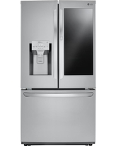 LG Electronics 26 cu. ft. 3-Door French Door Smart Refrigerator with InstaView Door-in-Door in Stainless Steel, Printproof Stainless Steel