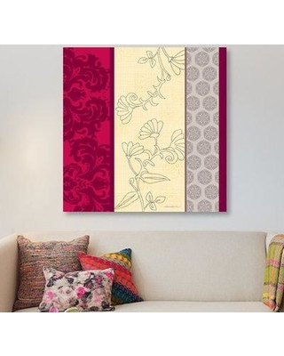 """East Urban Home 'Think Pink I' Graphic Art Print on Wrapped Canvas ESRB9226 Size: 18"""" H x 18"""" W x 0.75"""" D"""