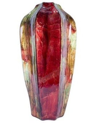 13 Off Bloomsbury Market Takako Ceramic Foiled And Lacquered Table Vase X111941098 Color Finish Red Bronze