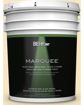 BEHR MARQUEE 5 gal. #ecc-22-1 Summer Solstice Semi-Gloss Enamel Exterior Paint and Primer in One