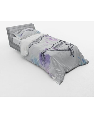 Whale Duvet Cover Set East Urban Home Size: Twin Duvet Cover + 2 Additional Pieces