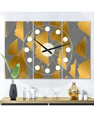 Oversized Polygon Mid-Century Wall Clock East Urban Home