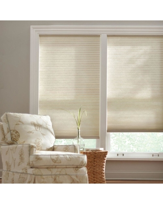 Home Decorators Collection Parchment 9 16 In Cordless Light Filtering Cellular Shade 26 5