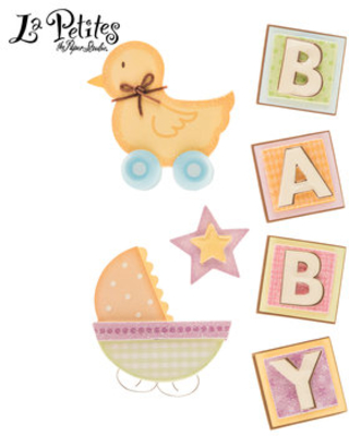 Baby & Duckie 3D Stickers
