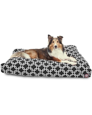Majestic Pet Products Black Polyester Rectangular Dog Bed (For Large)   788995502302