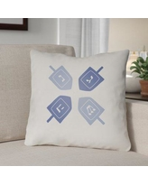 """The Holiday Aisle Contemporary Square Indoor/Outdoor Throw Pillow THDA8967 Size: 20"""" H x 20"""" W x 4"""" D, Color: White/Blue"""