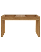 Big Deal On Luxor Paterson 27 In White Medium Rectangle Wood Coffee Table With Magazine Shelf