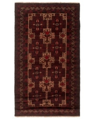 ECARPETGALLERY Hand-knotted Teimani Red Wool Rug - 3'5 x 6'0