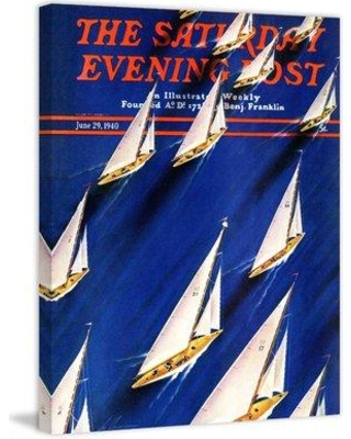 """Marmont Hill Sailboat Regatta by Ski Weld Painting Print on Wrapped Canvas MH-SEPSP-59-C Size: 39"""" H x 30"""" W x 1.5"""" D"""