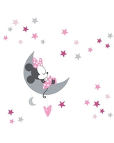 Disney Baby Minnie Mouse Pink/Gray Celestial Wall Decals by Lambs & Ivy