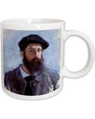 East Urban Home Self Portrait with A Beret Claude Monet Painting Dated 1886 Pd Us Coffee Mug W001160015