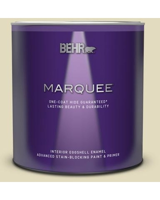 BEHR MARQUEE 1 qt. #M330-2 Flowery Eggshell Enamel Interior Paint and Primer in One