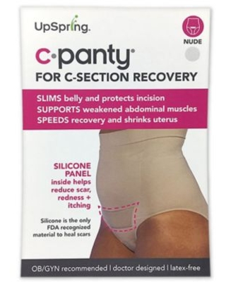 Upspring C-Panty Large/Extra Large High Waist C-Section Recovery Panty in Nude