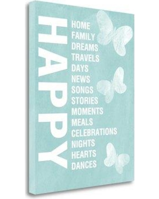 Tangletown Fine Art 'Happy Things' Textual Art on Canvas SBLW2115-1620c