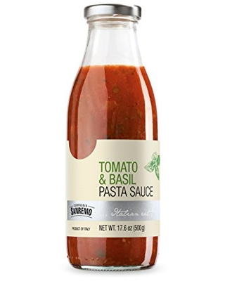 Compagnia Sanremo Tomato and Basil Pasta Sauce, 17.6 Ounce (Pack of 6)