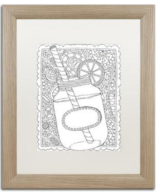 "East Urban Home 'Sweet Tea' Framed Graphic Art ETRB6721 Size: 20"" H x 16"" W x 0.5"" D Matte Color: White"