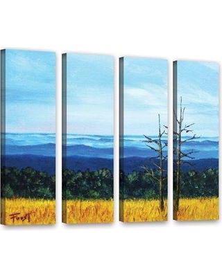 "Loon Peak Serene Mountain Tops 4 Piece Painting Print on Wrapped Canvas Set LOON8606 Size: 36"" H x 48"" W x 2"" D"