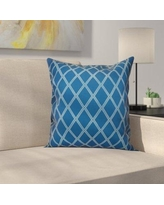 """Latitude Run Decorative Holiday Geometric Print Outdoor Throw Pillow LTRN4963 Size: 16"""" H x 16"""" W, Color: Teal"""