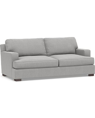 """Townsend Square Arm Upholstered Loveseat 78"""", Polyester Wrapped Cushions, Sunbrella(R) Performance Chenille Cloud"""