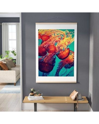 """East Urban Home 'Jellyfish 7' Textual Art EUHH4245 Size: 60"""" H x 40"""" W x 0.5"""" D Format: Poster"""