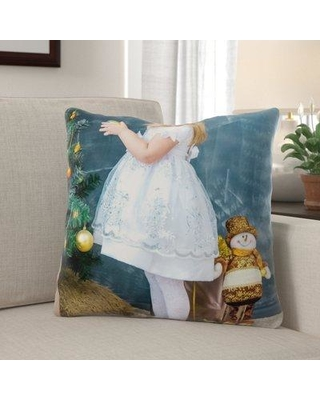 Sales On The Holiday Aisle Jasiah Christmas Indoor Outdoor Canvas Throw Pillow Polyester Polyfill In Green Size 18x18 Wayfair