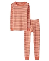 Moon and Back by Hanna Andersson Big Kids 2 Piece Long Sleeve Pajama Set, Coral, 10