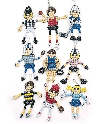 S&S Worldwide Beaded Sports Figures Craft Kit, 45/Pack (BE1023)