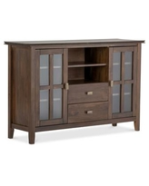 Bellevue Tall Tv Stand - Natural Aged Brown