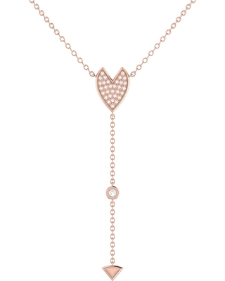 LMJ - Raindrop Drip Necklace In 14 Kt Rose Gold Vermeil On Sterling Silver