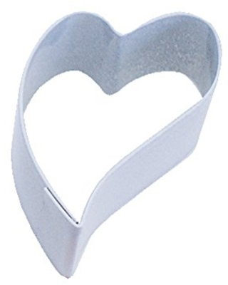 R&M Mini Folk Heart Cookie Cutter White With Colored, Durable, Baked-on Polyresin Finish