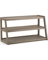 Sawhorse 52 TV Media Stand Distressed Grey - Simpli Home, Gray
