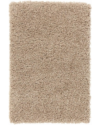 CONCORD GLOBAL TRADING Shaggy Beige 3 ft. x 5 ft. Area Rug
