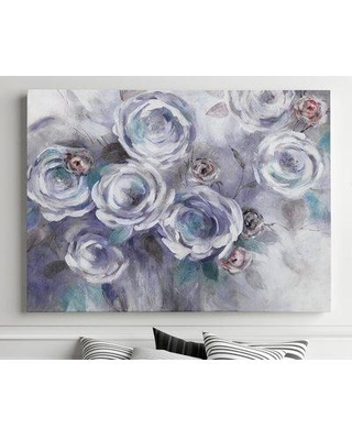 """House of Hampton 'Iced Flowers' Watercolor Painting Print on Canvas BI182419 Size: 30"""" H x 40"""" W x 1.5"""" D"""