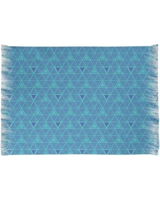 East Urban Home Hand Drawn Triangles Blue Area Rug W001702818 Non-Skid Pad Included: No