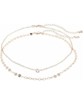 LC Lauren Conrad Cubic Zirconia Choker Necklace Set, Women's, Light Pink
