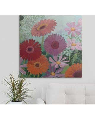 "Great Big Canvas 'Cosmos and Gerberas II' Kathrine Lovell Painting Print 2219441_1 Size: 30"" H x 30"" W x 1.5"" D Format: Canvas"