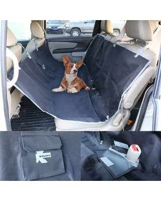 Dog Car Seat Cover Waterproof Back Seat Protector Quality Pet Hammock For Cars Truck & SUV Black by K-Cliffs