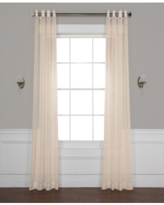 """Exclusive Fabrics & Furnishings Grommet Solid Sheer 50"""" x 120"""" Curtain Panel"""