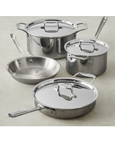 All-Clad d5 Stainless-Steel 7-Piece Cookware Set, 2017