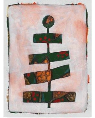 """Winston Porter 'Cylinder Tree' Acrylic Painting Print on Wrapped Canvas WNPO5321 Size: 32"""" H x 24"""" W x 2"""" D"""