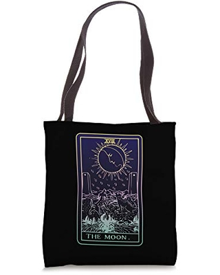 New Deal On The Moon Tarot Card Witch Aesthetic Witchy Major Arcana Tote Bag | see more about tumblr, witch and aesthetic. tarot cards witch aesthetic spooky witchy magic the moon tarot card witch aesthetic witchy major arcana tote bag from amazon real simple
