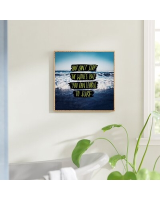 """Learn to Surf - Graphic Art Print East Urban Home Size: 30"""" H x 30"""" W x 1"""" D"""
