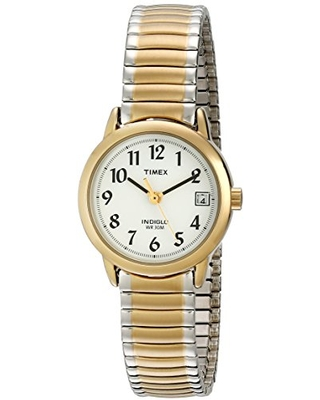 Timex Women's T2H491 Easy Reader 25mm Two-Tone Stainless Steel Expansion Band Watch