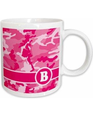 """East Urban Home Cute Camo Camouflage Letter Coffee Mug W000225242 Letter: B Size: 4"""" H x 3.75"""" W x 3"""" D"""