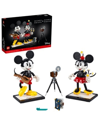 LEGO Disney Mickey Mouse & Minnie Mouse 43179; Classic Collectible Adult Building Kit (1,739 Pieces)